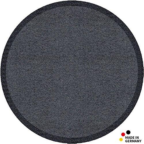 matches21 Fußmatte Fußabstreifer schmutzabsorbierend Schmutzfangmatte einfarbig grau rund Ø 65 cm...