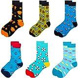 6 paar kleurrijke herensokken, stijlvolle ronde sokken, feestsokken, gekke katoenen sokken, mannen vrouwen