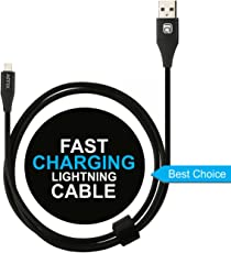 Affix 1.5M 2.4 Amp 8 Pin Lightning Data Sync & Charging Cable for iOS Devices (Black)
