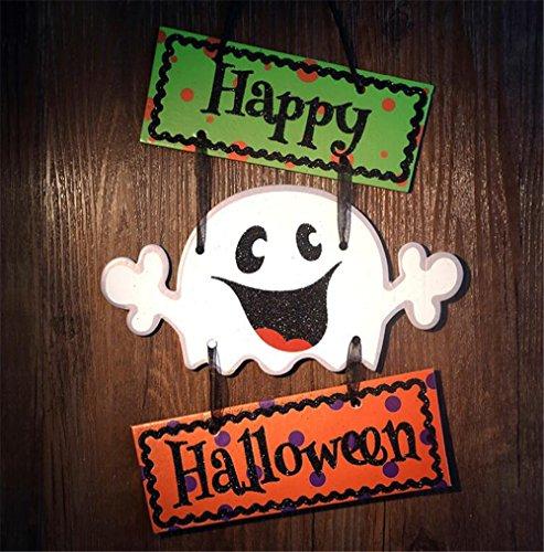 Happy Halloween, Halloween zum Aufhängen Willkommen Schild zum Aufhängen Dekoration für Tür Wand Fenster Bar Einkaufstasche, B (Halloween Dekoration Schilder)