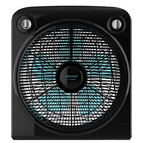 Cecotec Ventilador de Suelo ForceSilence 6000 PowerBox Black. 5 Aspas de 12