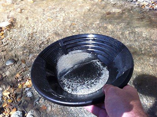 Goldwaschpfanne von Estwing aus schwarzem Kunststoff, Durchmesser: 36 cm – Gold Pan by Estwing, black plastic, diameter: 36 cm. - 3