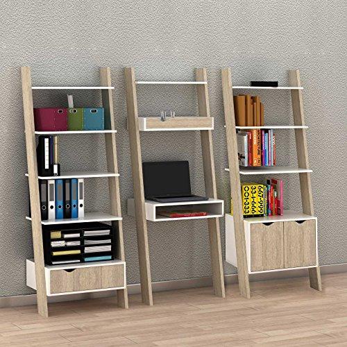 SoBuy Modernes Bücherregal Set mit Schreibtisch, Standregal, Wandregal, 3er Set, So-FRG110+ FRG111+...