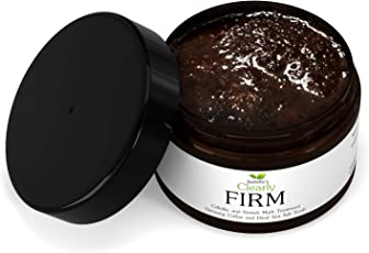 Isabella's Clearly FIRM, Exfoliating Dead Sea Salt and Coffee Body Scrub Reduces Cellulite and Stretch Marks. Natural Arabica, Sea Salt, and Antioxidant Rich Oils Exfoliate, Detoxify, and Nourish Skin (5 Oz)