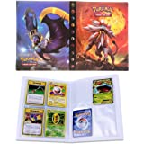 Porta Carte Pokemon, Raccoglitore Carte Pokémon, Album per Carte Pokemon GX, può ospitare 120 Carte a Caricamento Singolo o 2