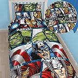 Marvel Avengers Assemble, wendbar, Bettwäsche, Kissen- und Deckenbezug