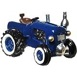 Oldtimer Traktor Spardose blau