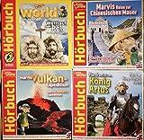 Marvi Hämmer 4 Hörspiele Deutsch und Englisch, Wettlauf zum Pol, Marvis Vulkan - Expedition, Marvi am Hof von König Artus, Marvis Reise zur Chinesischen Mauer.