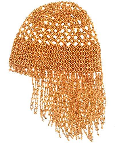 Performance Tribal Kleopatra Halloween Kopfschmuck Shiny Hat Perlen Cap-Gold