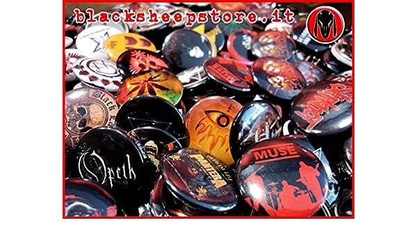 Spilla personalizzata rock metal 50 mm pins stampa alta qualità