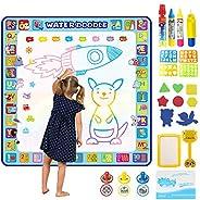 Tobeape® 100 X 100 cm Extra Large Aqua Magic Doodle Mat, Colorful Educational Water Drawing Doodling Mat Color