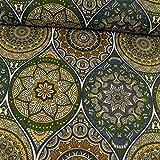 Stoffe Werning Beschichteter Baumwollstoff Mandalas blau