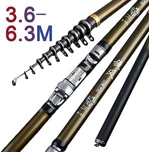 HYLEI High Carbon 3.6M 4.5M 5.4M 6.3M Fishing Rod Spinning M