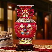 crystal glaze Cina rosso/Vaso melograno binaurale di fiori/ decorazioni di nozze soggiorno den-B