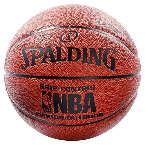 SPALDING - NBA GRIP CONTROL IN/OUT SZ.7 (74-577Z) - Ballons de basket NBA - Touché et Contrôle améliorés - Matière Durable - orange