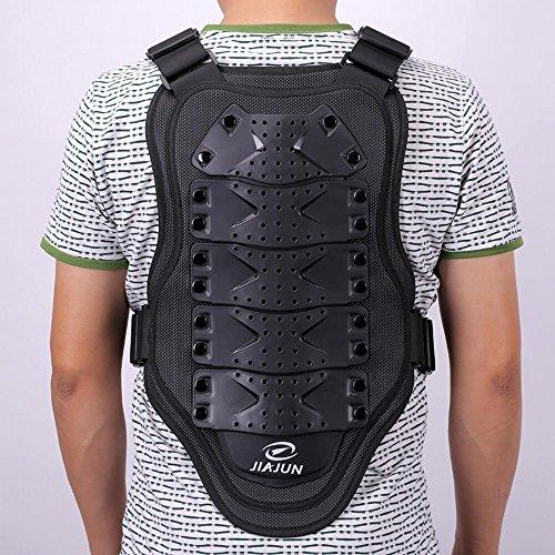 Da-uomo-da-moto-protective-Body-Armour-Armor-Jacket-Guard-Bike-Biker-motocross-Gear-Black-Taglia-M-circonferenza-vita-80--115-cm