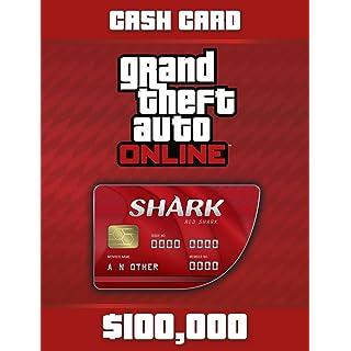 Grand Theft Auto Online   GTA V Red Shark Cash Card   100,000 GTA-Dollars