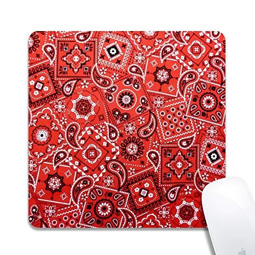 (Platz Mauspad für PC, rutschfeste Spiel Computer Mauspad personalisierte Muster - Red Bandana)