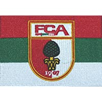 Aufnäher FC Augsburg - 7 x 10 cm + gratis Aufkleber, Flaggenfritze®