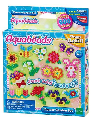 AQUA BEADS Aquabeads 31088Krümmer, Flower Garden Set, Mehrfarbig