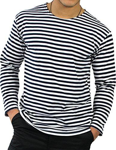 Kostüm Seemann Herren Marine - normani Russisches Marine Shirt in verschiedenen Ausführungen Farbe Longsleeve Größe 3XL