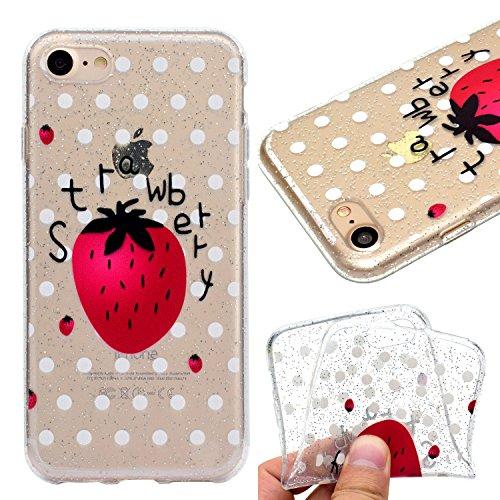 Cover per iPhone 7 / iPhone 8 Custodia Silicone , YIGA cactus Cover Cristallo Trasparente Guscio Silicone Morbido TPU Case Soft Shell Skin Protezione Custodia per Apple iPhone 7 / iPhone 8 (4.7) MM57