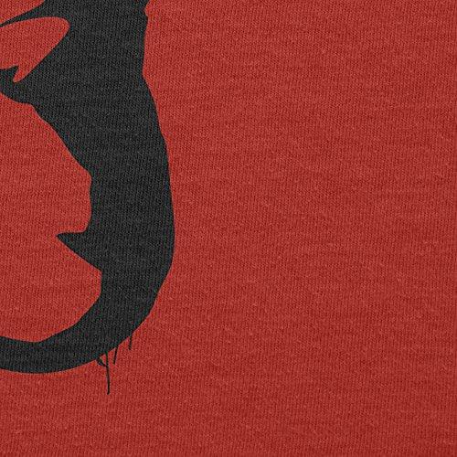 TEXLAB - Banksy Worm - Herren T-Shirt Rot