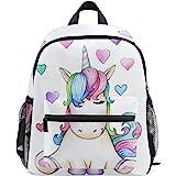 Mochilas Escolares Infantiles, Bolsa De Preescolar Ligera Personalizada Personalizada Impresa con Unicornio Lindo para Niñas