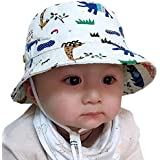 Snyemio Sombrero Pescador para Bebé Niños Primavera Verano Algodón Gorra de Protectora del Sol para Playa Viajes