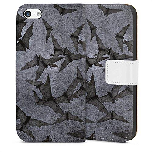 DeinDesign Tasche kompatibel mit Apple iPhone 5c Leder Flip Case Ledertasche Fledermaus Bat Vampir (Bat 5c Phone Case)