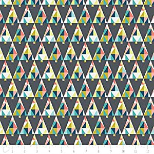Camelot oh what fun triangle trees in dark grey sewing for Frumble fabrics