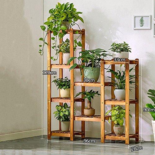 Brisk-Racks de fleurs- Solide bois combinaison étagère à fleurs Plancher en bois à plusieurs étages Flowerpot balcon salon intérieur fleur stand ( taille : 96*28*120cm )