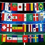 2018 Coupe du Monde de la chaîne de Drapeau, Groupe de Match 32 équipes Pays Soccer décoration bannières pour Party Bar Club célébration