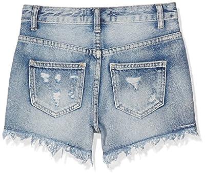 New Look 915 Girl's Gelato Extreme Rip Denim Shorts