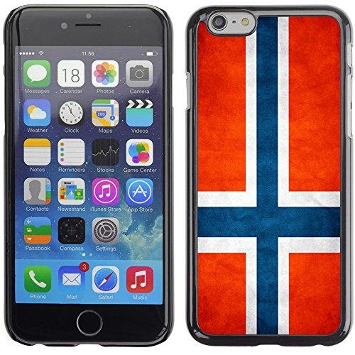 Graphic4You Vintage Uralt Flagge Von Kroatien Kroatisch Design Harte Hülle Case Tasche Schutzhülle für Apple iPhone 6 Plus / 6S Plus Norwegisch