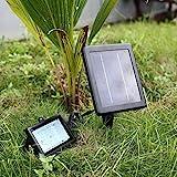 DECKEY Solarstrahler Solarspot Solarleuchte Solarlampe Garten Lampe Außenleuchte wasserdicht 30leds