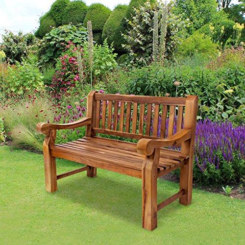 Trueshopping Kingsbridge Garten Bank – Teak Holz Klassische Design Zwei Sitzbank - 3