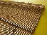 Bambusrollo Bambus Raffrollo Kirschbaum Breite 60 - 140cm Länge 160 und 240cm Seitenzug Fenster Tür Rollos Holzrollo (140 x 160 cm)