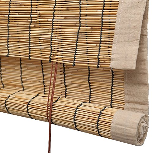 He Ping Yuan Jalousie Rollo Bambus Vorhang - hochwertige Reed Heben Dekoration Rollo Retro...