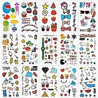 Tatuaje temporale para niños (15 hojas), Konsait 250+ dibujos animados Tatuajes Impermeables para piñata Niños juegos infantiles fiesta de cumpleaños regalo Bolsas Relleno