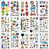 Tattoos für kinder, Konsait temporäre Kinder tattoos Tätowierungs Aufkleber für Mädchen jungen Spielen Mitgebsel Kindergeburtstag geschenktüten (250 Tattoos)