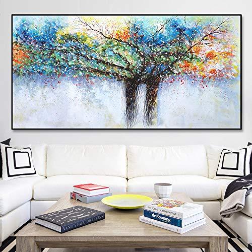tzxdbh Abstrakte Reiche Baum Leinwand Malerei Wandbilder Für Wohnzimmer Moderne Dekorative Poster Drucken Bilder-in Malerei & Kalligraphie Gr KEIN Rahmen 40x80 cm -