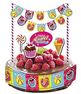 Folat 12Piezas de decoración de Tartas de * Cupcake Birthday * para Fiestas y Nacimiento