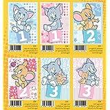 Juego 6Piezas tarjetas felicitación cumpleaños 1año 2años 3años Tom y Jerry