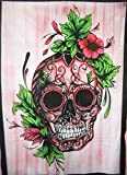 Traditionelle Jaipur Skull, Indian Poster Wall Decor, Hippie Wandteppiche, Bohemian Wandbehang, Gypsy Wohnheim Room Dekorationen, Boho Art Wand, Gr??e 76,2?x 101,6?cm Viel Gl?ck Wandtattoo …