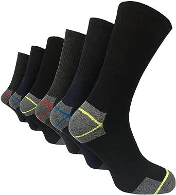 Six Pairs Mens Undercover BIG FOOT ULTIMATE WORK Socks 11-14