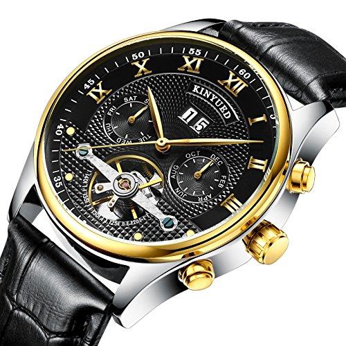 Ssq-cxo orologio da polso casual, orologio da polso meccanico completamente automatico con quadrante rotondo in acciaio inossidabile con movimento semplice