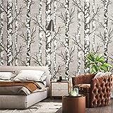 ADDFLOWER Nordic Ins Wallpaper 3D Legno Grano Betulla Foresta Retro Nostalgico Soggiorno Ristorante Hotel Negozio di abbigliamento Wallpaper, B