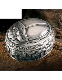 Caja de almacenamiento de aire Nacional de Egipto/ escarabajo Totem redondeado pecho/ caja de la joyería vintage/ joyería de regalo organizador