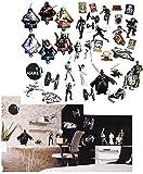 alles-meine.de GmbH 36 Stück: XL Wandsticker -  Star Wars / Figuren  - Incl. Name - selbstkleben..